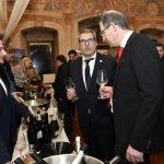 William Wouters in Peer F. Holm spoznavata vina Vinarstva Erzetič